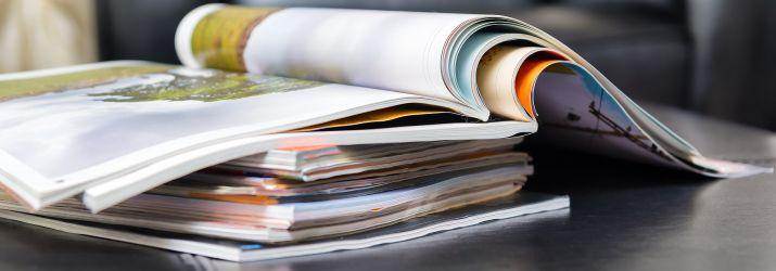 Magazines on desktop