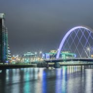 Glasgow citycentre by night