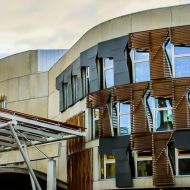 Edinburgh Parliament in sunlight