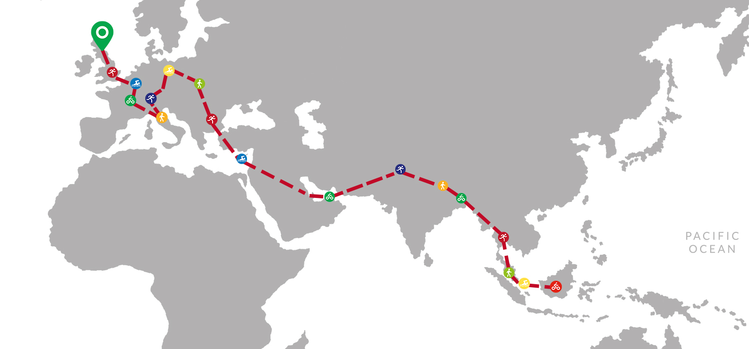 Map charting the journey's progress