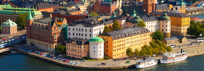 Panoramic view of Stockholm