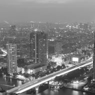 Cityscape Bangkok (Black & White)