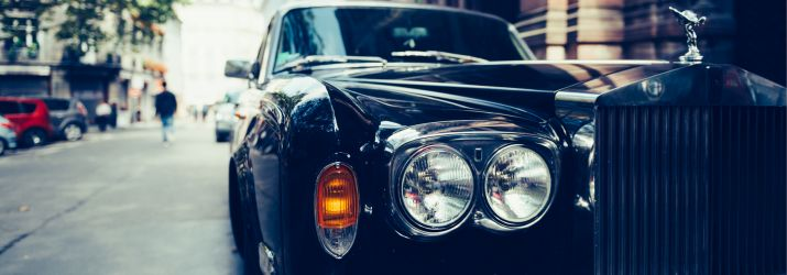 A photo of a Rolls-Royce car