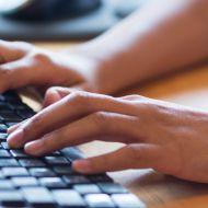 Digital offering on laptop