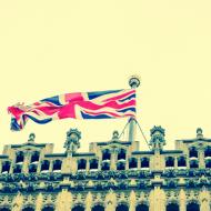 British parliament building flag
