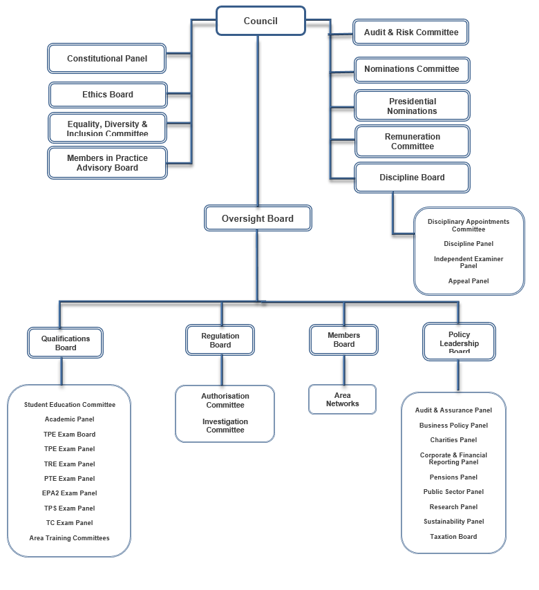 graphic illustrating the ICAS governance structure