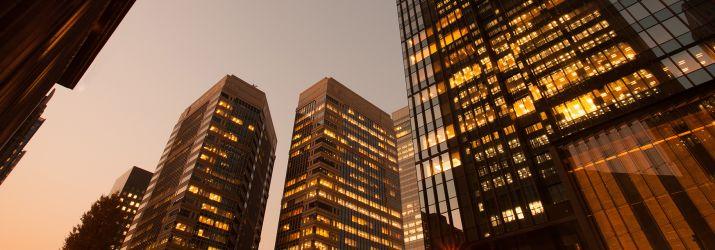 Office Buildings at dusk