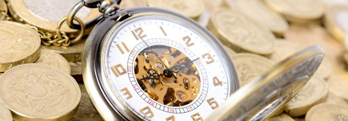 Pocketwatch and coins