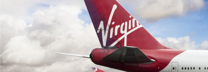 Virgin Atlantic plane ew