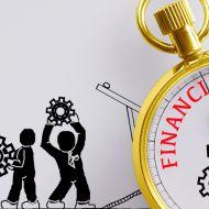 3 Financial crisis stopwatch concept