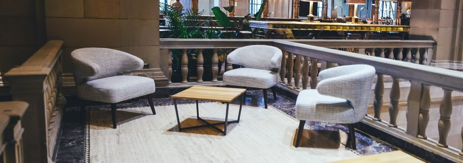 Photo of three gathered chairs