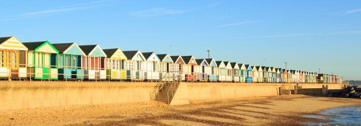 summer beach huts