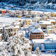 The snowy Davos awaits the WEF 2017