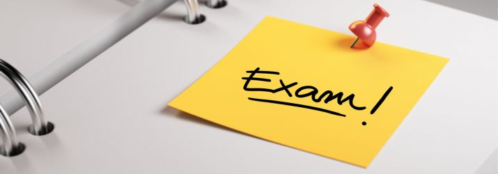Image of a folder and highlighted exam day