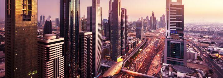 The Dubai skyline