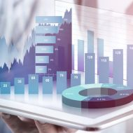 Abstract picture of financial reports