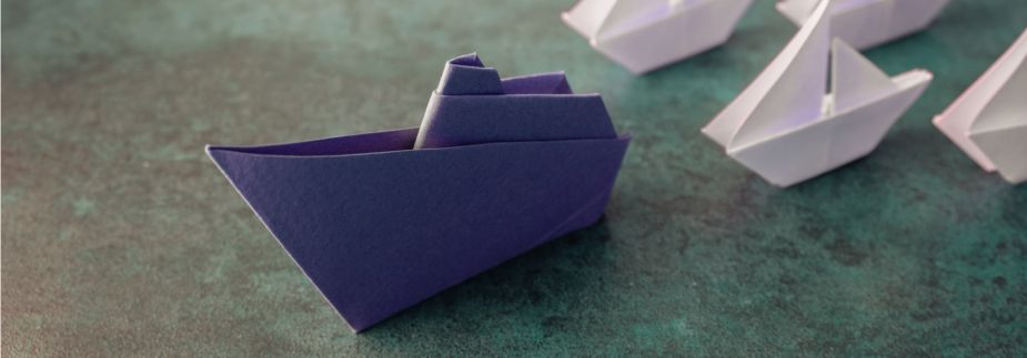 Photo of origami ships