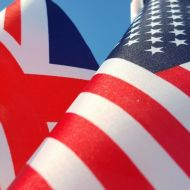 Photo of UK and US flags