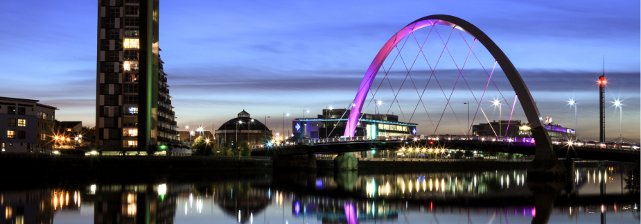 Photo of Glasgow at night