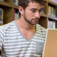 studying man