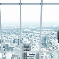 Picture of an accountant looking at the city
