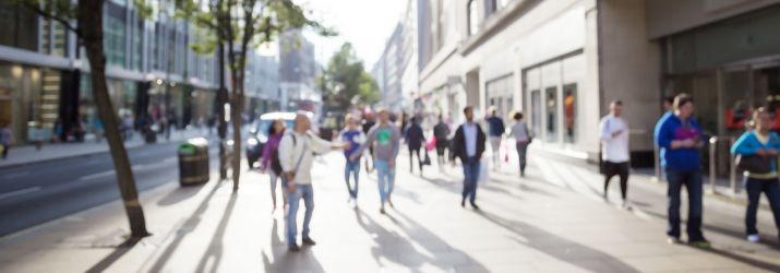 Picture of young people shopping in London
