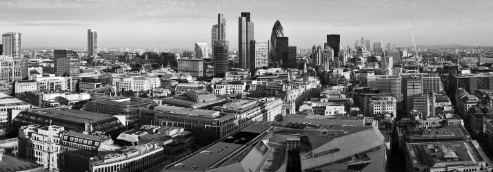 London skyline (black and white)
