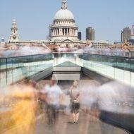 Photo of a time-lapsed London bridge