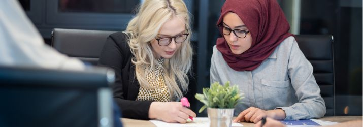 Mentor work concept