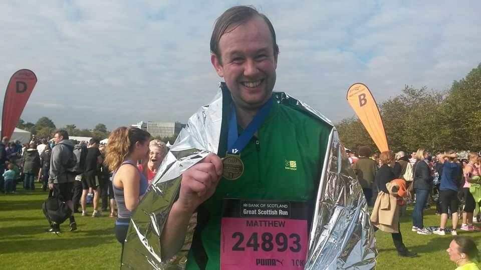 Matt at the end of a run