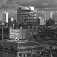 Glasgow Skyline B&W