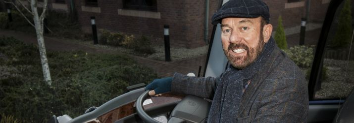 Sir Brian Souter aboard Stagecoach
