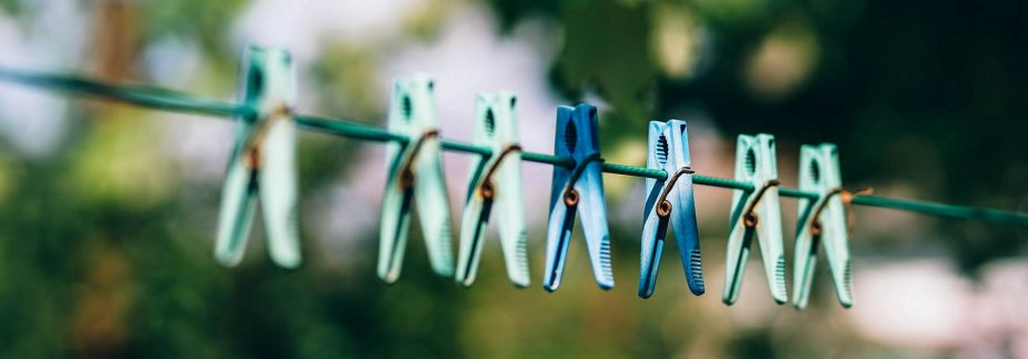Photo of a clothes washing line