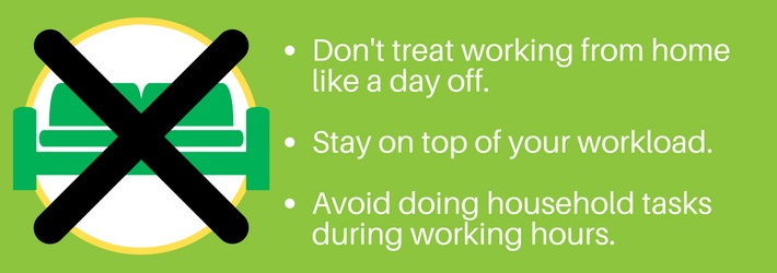 Working from home: Avoid other tasks