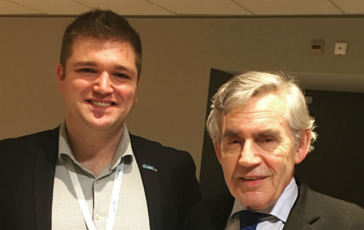 One Young CA Michael Scott with Former UK Prime Minister Gordon Brown