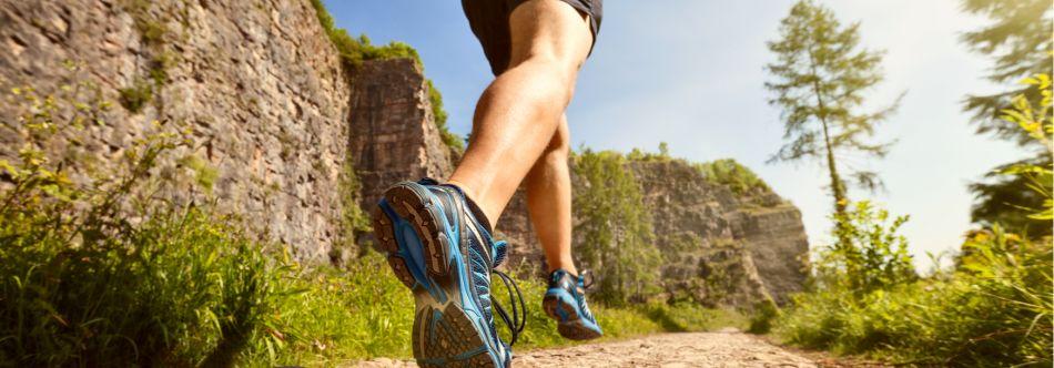 photo of joggers feet