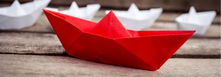 Photo of paper boats