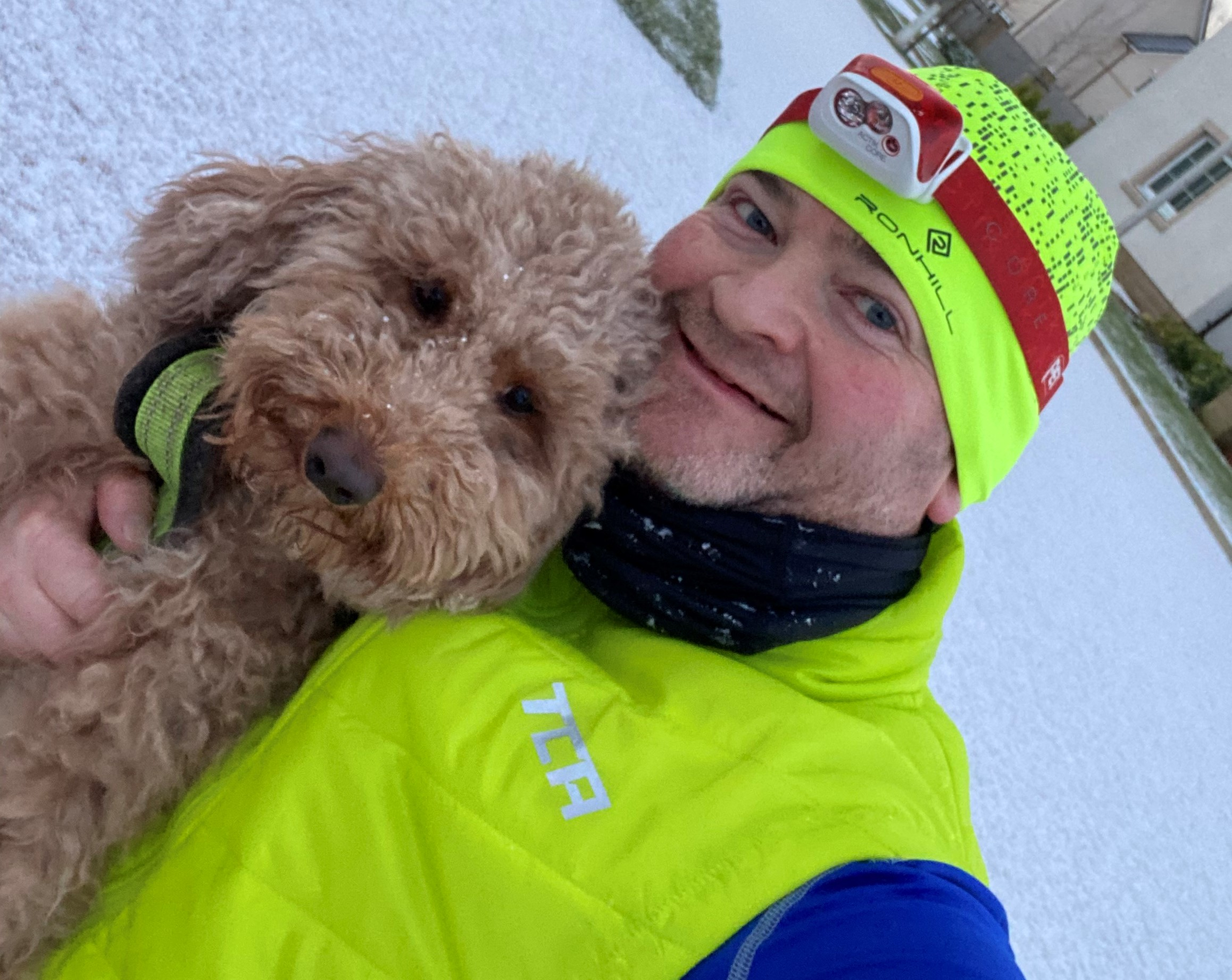 photo of Jim with his dog
