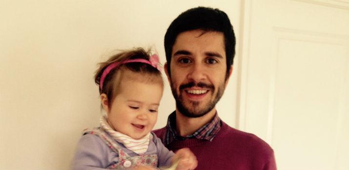 Manu Hinojosa with daughter