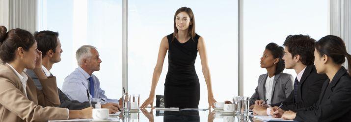 CEO heading meeting