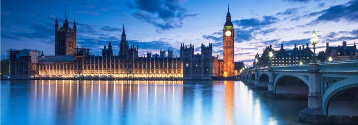 London Parliament building sunset 18