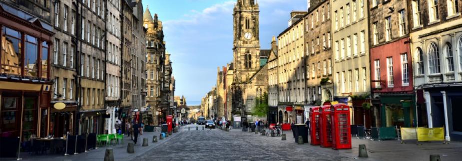 Edinburgh sky cityscape