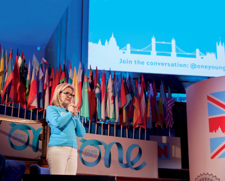 Kate Robertson at One Young World