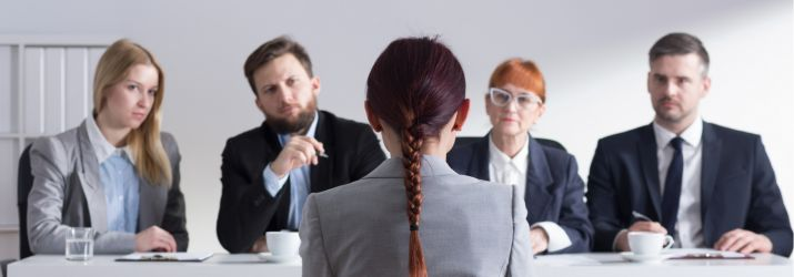 Panel at job interview