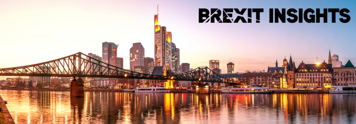 City of London at twilight Brexit image