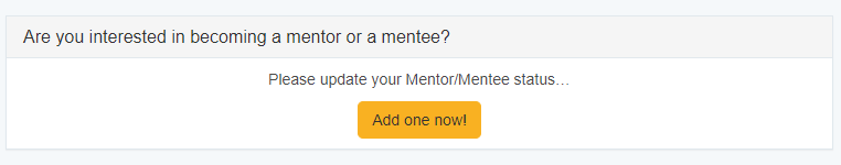screenshot of mentoring status