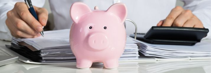 Piggy bank and financial planning