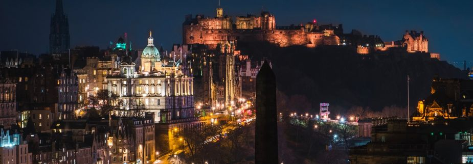 Photo of Edinburgh city at night