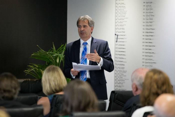 Ken McHattie CA, speaking at the ICAS AGM