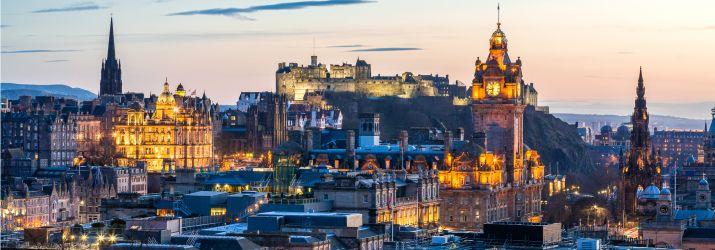 Edinburgh city sunset may 18